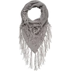 maurices Snood With Fringe ($18) ❤ liked on Polyvore featuring accessories, scarves, silver gray, lightweight scarves, maurices, snood scarves, fringe scarves and gray scarves