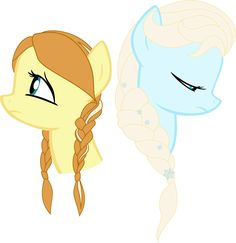 elsa cartoon character | Disney's Frozen - Anna and Elsa Ponyfied by AppleMelody