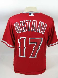 Los angeles angels shohei ohtani red cool base mens medium jersey nwt 62c58caad87