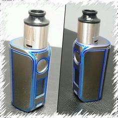 Wraps now available for Asmodus Minikin V2. Seen here with JWraps custom dual color wrap - Blue Chrome Trim & Silver Chrome vinyl wrap. We have over 700 more designs for the Tempest and 400 other mod brands! Check us out!