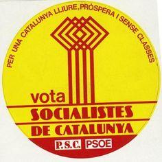 Icono de los socialistas catalanes para las elecciones del 77