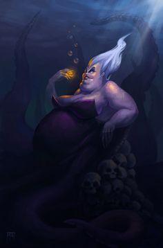 Disney Villains - Little Mermaid - Ursula Ariel Disney, Disney Pixar, Film Disney, Disney Nerd, Disney Fan Art, Disney Villains, Disney And Dreamworks, Disney Animation, Disney Cartoons
