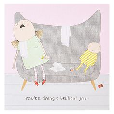 Buy Rosie Made A Thing Brilliant Job Greeting Card Online at johnlewis.com