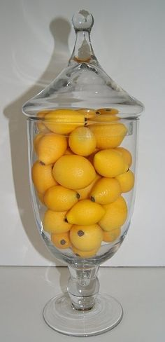 I Wanna Put An Apothecary Jar With Lemons On My Kitchen Table Home Diy Pinterest