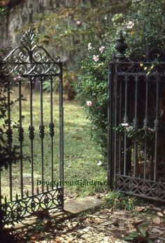 Formal iron gates for a formal garden - this I backyard to protect kids from…
