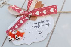 Handmade fox earrings , fimo earrings, fimo fox, handmade gift, gift for daughter, girlfriend gift, love fox, fox charm - now available at my online shop   https://www.etsy.com/ca/listing/500077464/cute-handmade-fimo-fox-earrings-cute