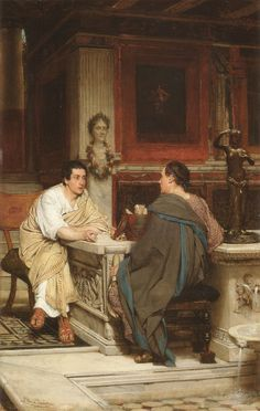 """The Discourse"", by Sir Lawrence Alma-Tadema (Dutch, 1836-1912)."