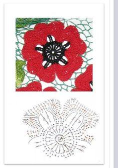 Flor em crochet