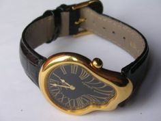 Up for Sale is a Custom Made Salvador Dali inspired Soft watch ( Softwatch ) made with genuine leather of you choice. Cute Jewelry, Jewelry Accessories, Jewelry Shop, Jewellery, Cheap Jewelry, You Are My Moon, Accesorios Casual, Heart Pendant Necklace, Fashion Necklace