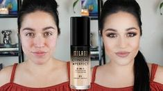 Combat under eye circles, redness and other skin imperfections with this medium to full coverage, water-resistant foundation plus concealer in one. Milani Conceal + Perfect 2-in-1 Foundation + Concealer's no mess, no drip pump dispenses just the right amount of fluid needed to achieve a flawless look and works around the clock to keep skin looking naturally perfect! Milani Conceal And Perfect, Beauty Hacks, Beauty Tips, Concealer, Eyeliner, Foundation, Im Not Perfect, Lipstick, Eye Circles