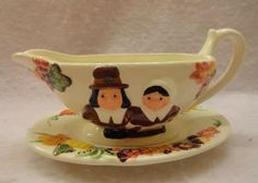 Publix Supermarket Pilgrim gravy boat and tray paid $2 ...rare ~bought this for my MIL for Thanksgiving. I have the salt and pepper shakers that match. They do not sell these anymore
