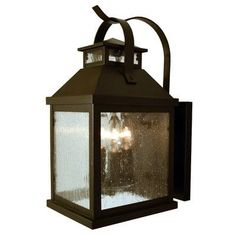 Arroyo Craftsman Canterbury 3 Light Outdoor Wall Lantern Finish: Pewter, Shade Color: Cream