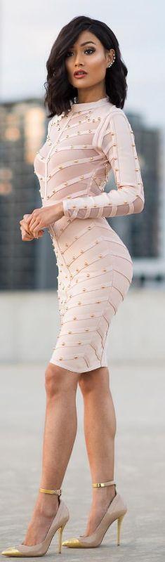 Blush x gold / Fashion Lok by Micah Gianelli #fashion