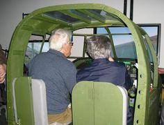 Simulateur Mitchell B25 au salon 2011.