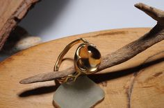 woman gold ring with stones. women gold ring with by shmukies, $700.00