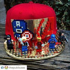 Lego Hat, Custom Lego, Legos, Cap, Crafts, Caps Hats, Baseball Hat, Lego, Manualidades