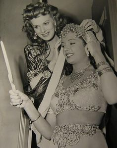 Maureen O'Hara & Jane Greer in Sinbad the Sailor wearing Joseff Hollywood Jewelry