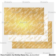 Shop Peace Comfort Joy Holiday Hymn Custom Gold Foil Wrapping Paper Sheets created by LeonOziel. Joy Holiday, Foil Paper, Comfort And Joy, Paper Crafts, Diy Crafts, Creative Gifts, Gold Foil, Art For Kids, Craft Projects