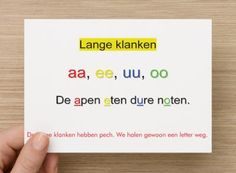 Hulpkaart open en gesloten lettergrepen De lange klanken hebben pech Learn Dutch, Dutch Language, 21st Century Skills, Grammar, Spelling, Teacher, Letters, Writing, Education