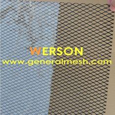 generalmesh Treillis Grille de diamant Aluminium Couleur: Noir ,Argent  Le maillage : 33 mm x 15 mm  paisseur de 2 mm  Taille :150 cm x 30 cm
