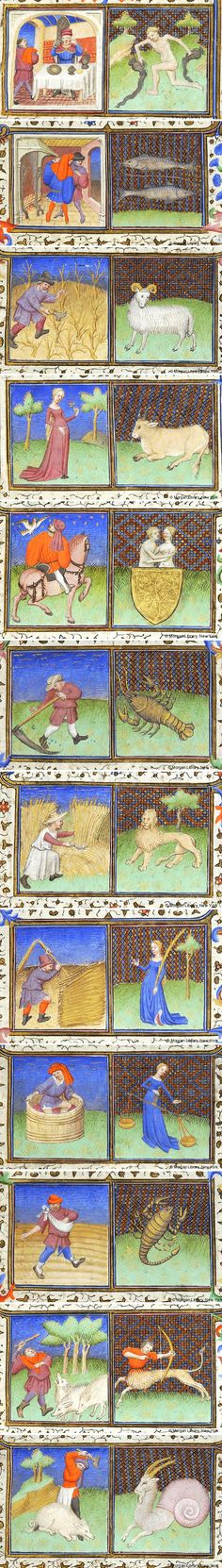 Signs of the Zodiac | Book of Hours | France, Paris | ca. 1425-1430 | The Morgan Library & Museum