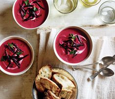 Lunch Recipe: Beet, Ginger Coconut Milk Soup #vegan #glutenfree #recipes #lunch