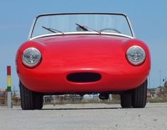 This 1959 Austin-Healey Bugeye Sprite is a refurbished example powered by a 948cc inline-four mated to a 4-speed manual gearbox. Modifications include a vintage Speedwell bonnet, Weber carb, and electronic ignition, starter solenoid, tachometer, and fuel