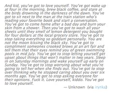And kid you've got to love yourself.