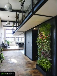 Module végétal pour intérieur