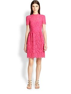 Valentino - Bambolina Lace Dress - Saks.com