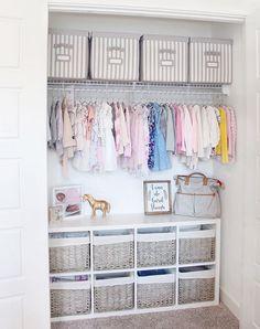 Baby Room Design, Baby Room Decor, Nursery Room, Nursery Ideas, Design Bedroom, Nursery Water, Girl Nursery, Nursery Decor, Kid Closet