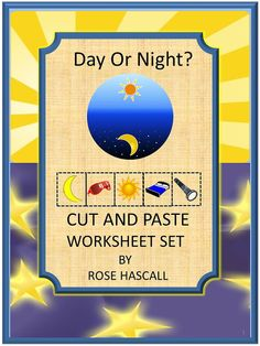 A lot of preschoolers mix up day and night. They love to say last night, meaning yesterday. The Day or Night? Cut and Paste worksheet set uses daytime and nighttime graphics to teach the basics and to help the young students learn the concept of day and night.  Day Or Night? Cut and Paste Worksheet set consists of the following: •	Color Matching •	What Comes Next •	Letter-upper case, low case Matching •	Shape Matching •	Number Matching •	Counting •	Addition •	Subtraction •	What Belongs Where
