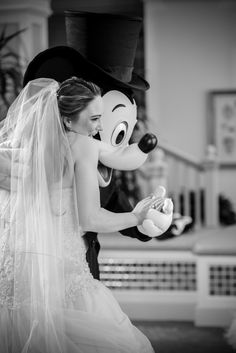 No wedding reception is complete without a dance with our beloved Mickey Mouse