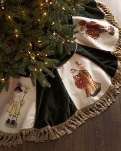 """Old World Santas"" Christmas Tree Skirt at Neiman Marcus. 450"
