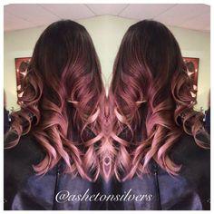 Rose gold color melt to pastel pink