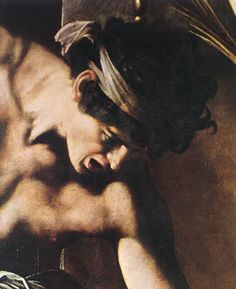 Detail from Caravaggio's Martyrdom of St. Matthew.