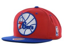 Philadelphia 76ers Mitchell and Ness NBA Under Over Snapback Cap Hats  Capellini 6d2c9b39ab7