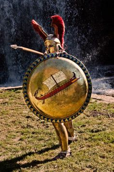 m Fighter Gladiator Sheild helm Spear arena hoplite athena promahkos