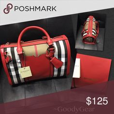 Red Burberry Bag Red Burberry This is a classic with a splash of color! Hermes Birkin, Color Splash, Burberry, Shoulder Bags, Best Deals, Classic, Womens Fashion, Red, Closet