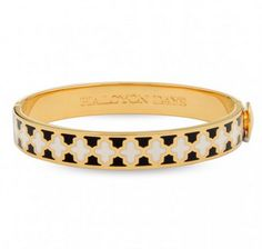 #HalcyonDays bangle with black, cream and #gold. Gorgeous bangle alone or with the entire collection!
