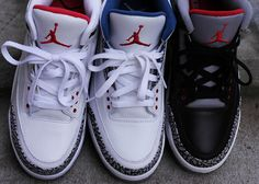 The three Retro IIIs to have in your collection: White Cements, True Blues and Black Cements