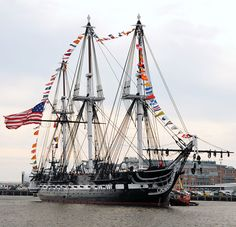 """sailorgil: """" """" USS Constitution returns to her pier after an underway to celebrate her 213th launching day anniversary """" … Boston, 21 October 2010 [U. S. Navy Photo] """""""