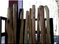 6 - 8 cm in diameter, naturally increased, curved fence elements - Ildáre bricks!, Industrial loft Möbel Garden borders, home decor ----------------- Acacia pla