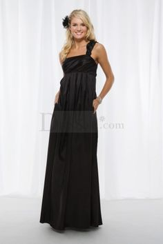 Attractive Black Empire Bridesmaid Dress with Particular Straps    http://www.dressale.com/attractive-black-empire-bridesmaid-dress-with-particular-straps-p-34129.html