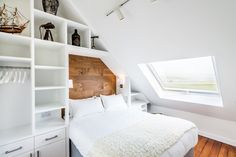 A loft conversion could create the extra space you need cost-effectively. Use our at-a-glance guide for loft conversion ideas and to find how what you should know – before you start Attic Bedroom Decor, Attic Rooms, Attic Spaces, Bedroom Loft, Small Spaces, Attic Bathroom, Skylight Bedroom, Bedroom Ideas, Master Bedroom