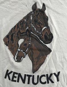 Vintage Tees, Kentucky, 1980s, Horses, T Shirt, Supreme T Shirt, Tee Shirt, Horse, Tee