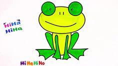 Tìm hiểu màu vẽ và màu ếch (ếch) - video cho trẻ em / Hihahiho