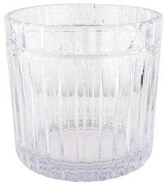 Crystal Tiffany & Co. Atlas champagne cooler ice bucket with raised Roman numeral motif at rim and acid etched brand stamp at underside. Tiffany Atlas, Tiffany And Co, Champagne Cooler, Drinkware, Bucket, Ice, Crystals, Tumbler, Crystal