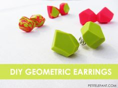 Geometric is the word of the day, and it's time to learn how to make your very own geometric earrings using nothing more than polymer clay and your oven!