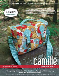 Camille Camera Bag - Swoon Sewing Patterns